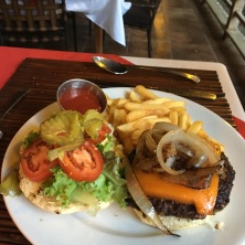 Typical Burger- the American option- but the cheese is made IN-HOUSE!