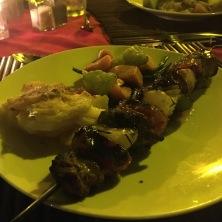 Juicy Pork Kebabs with pineapple
