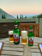 A refreshing Bintang with amazing views